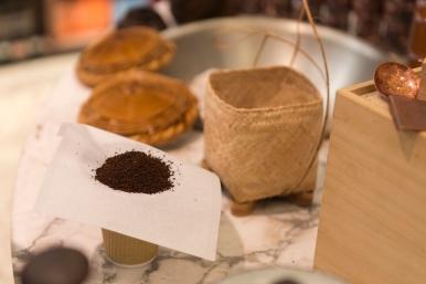 Café moulu prêt à être filtré