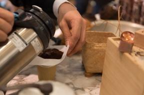 Infusion de café en cours