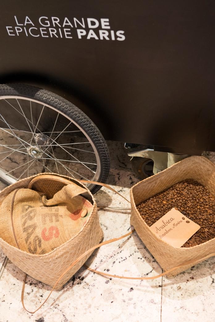 Les grains de café Bourbon torréfiés