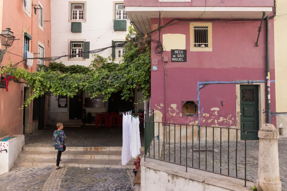 Les façades colorées dans l'Alfama au coeur de la vieille ville.