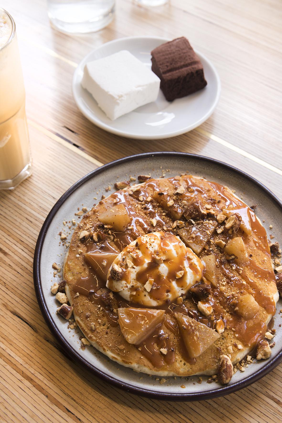 Pancake au chaï et amandes