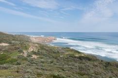 Le parc est une bande de terre entourée par la mer, exposant un côté au grand vent et abritant l'autre.