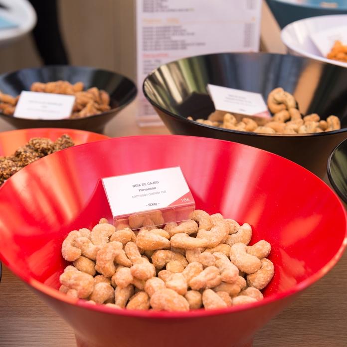 Noix de cajou au parmesan de chez Esprit Gourmand.