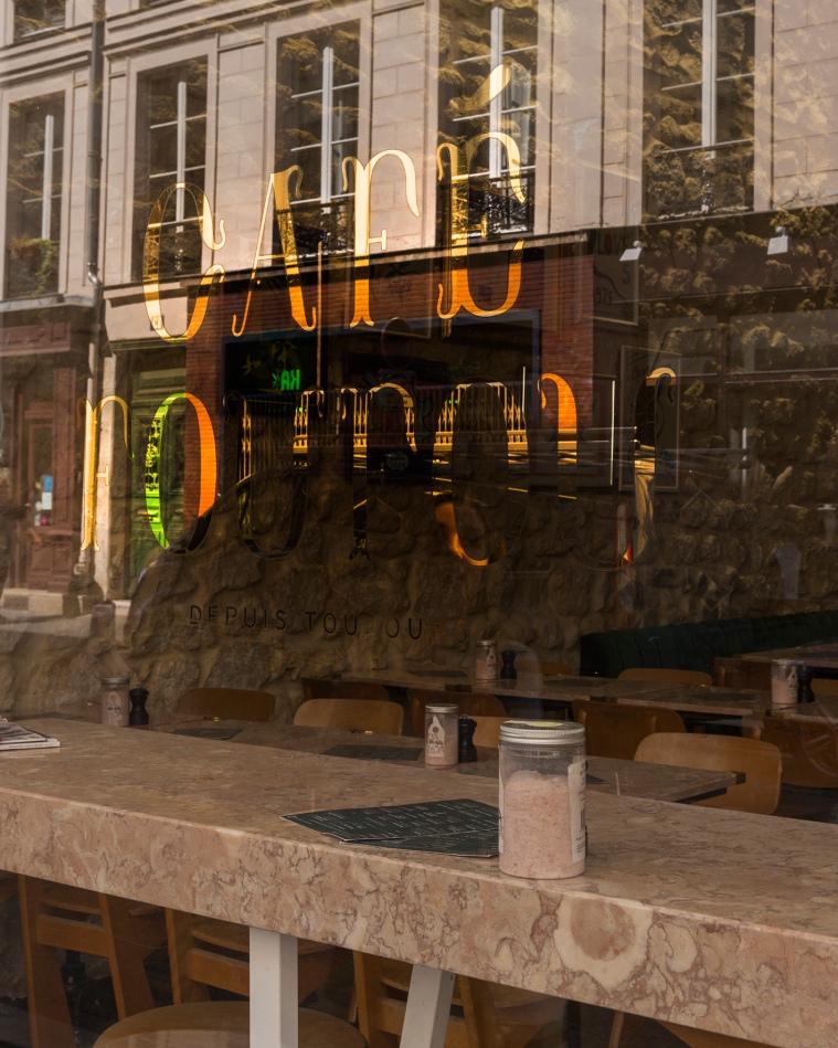 La devanture du Café Foufou.
