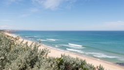 La plage fait partie de 30km de côtes reliant le Cape Schanck à Point Nepean Road.