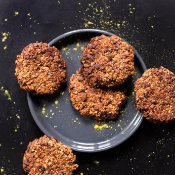 Les granola cookies après cuissons. Bien dorés et croustillants à souhait.