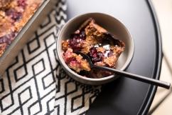 Porridge au four comme un clafoutis.