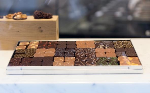 Les chocolats Jacques Génin... Peu de mots pour décrire ces grands crus et ces subtiles ganaches parfumées.
