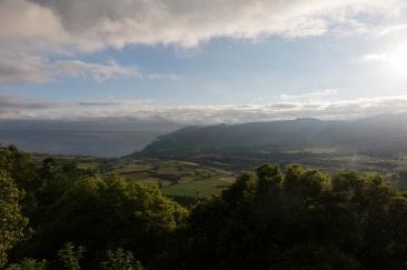 Le point de vue depuis le Mirador do Pico Longo en fin de journée.