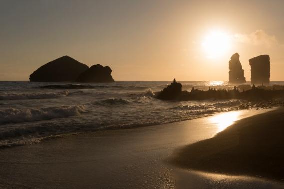 Le sublime coucher de soleil de Mosteiros.