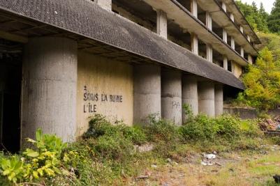 Un immense hôtel est à l'abandon au point de vue Vista do Rei aux 7 Cités.