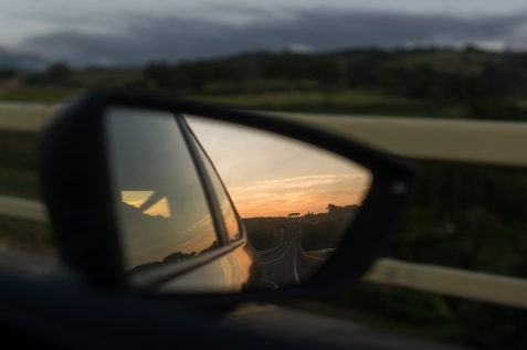 Vue depuis la route.