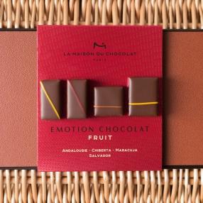 Coffret de chocolats de dégustation.