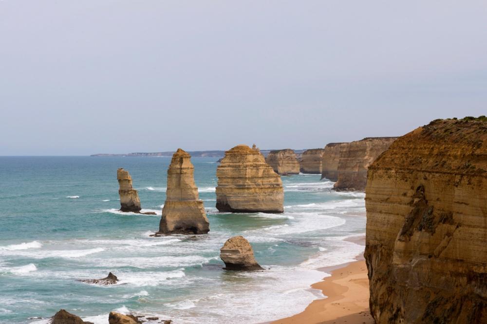 Photographie du paysage des 12 Apôtres en Australie.