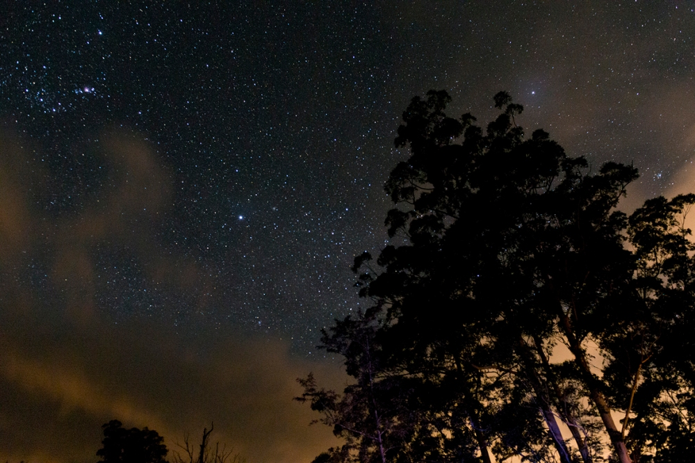 Photographie d'un ciel étoilé.