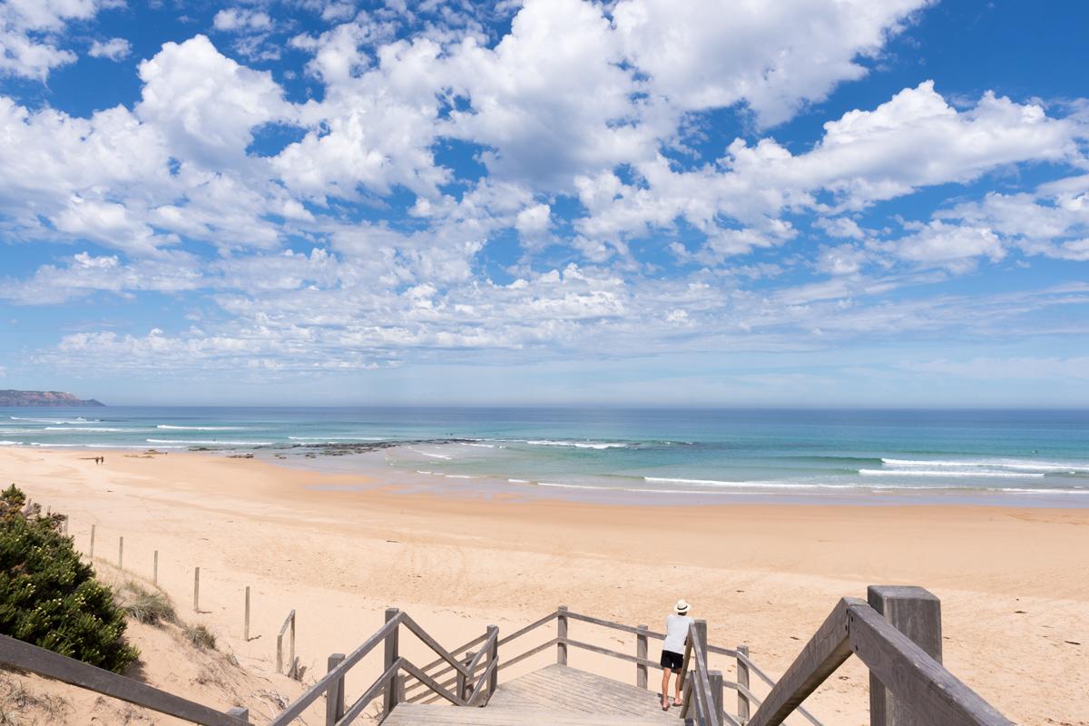 Photographie d'une plage en Australie.