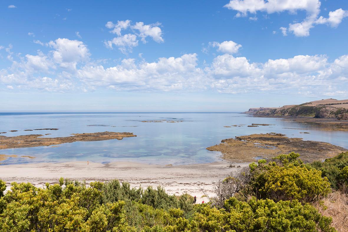 Photographie d'une plage dans un parc national en Australie.