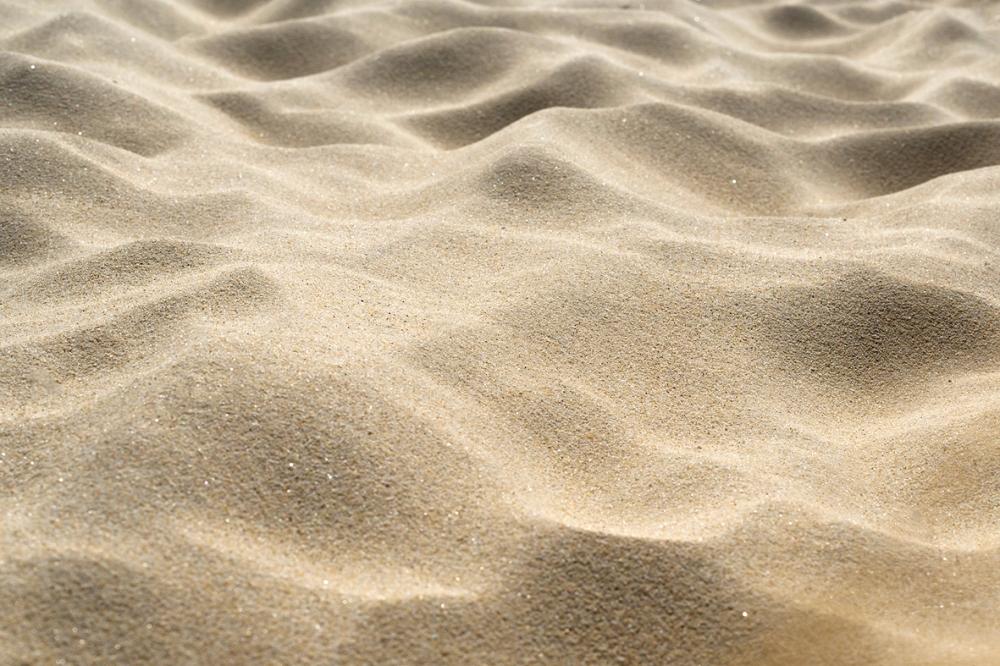 Photographie en gros plan du sable.