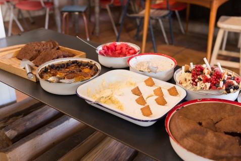 Le buffet de desserts.