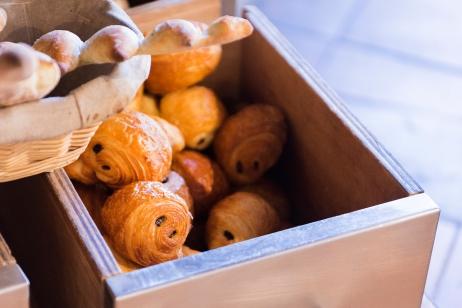 Les mini pains au chocolats.