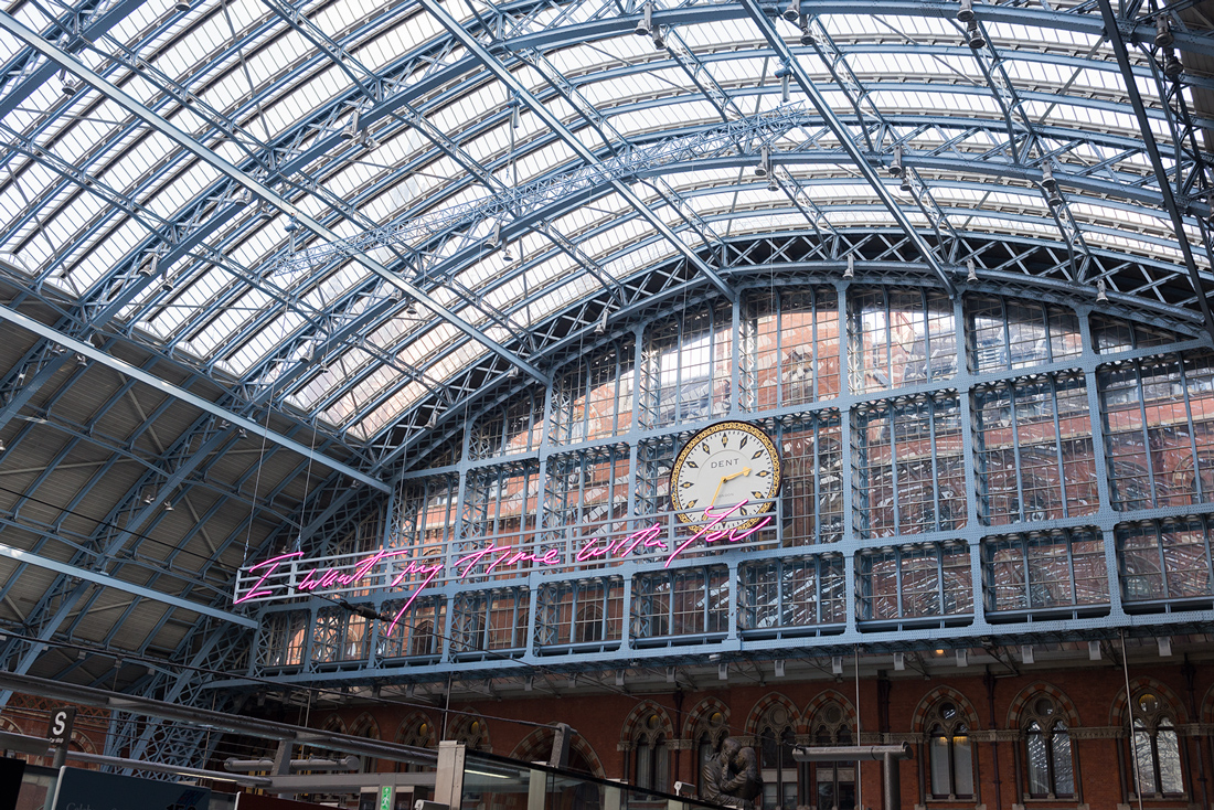 St Pancras Station London.