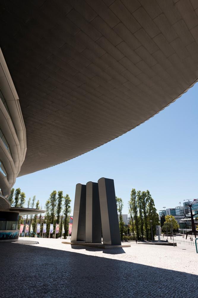 Photographie d'architecture dans le quartier moderne de Lisbonne.