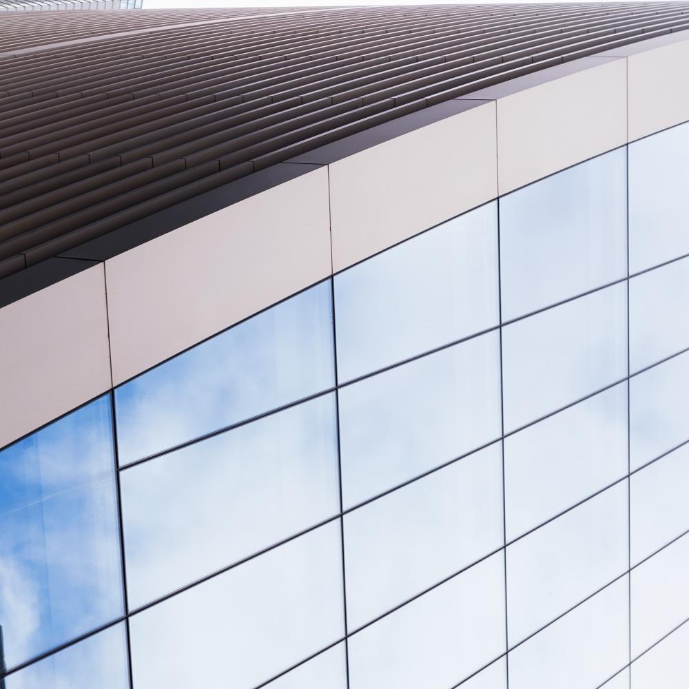 Photographie zoomé sur une façade d'un bâtiment à Londres.