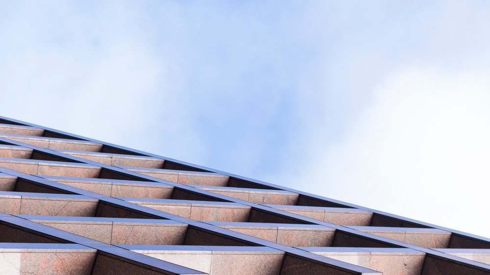 Zoom sur les lignes d'un building londonien