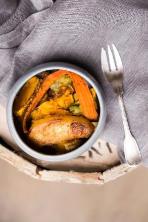 Version 1: butternut, carottes, courgettes, pommes de terres.