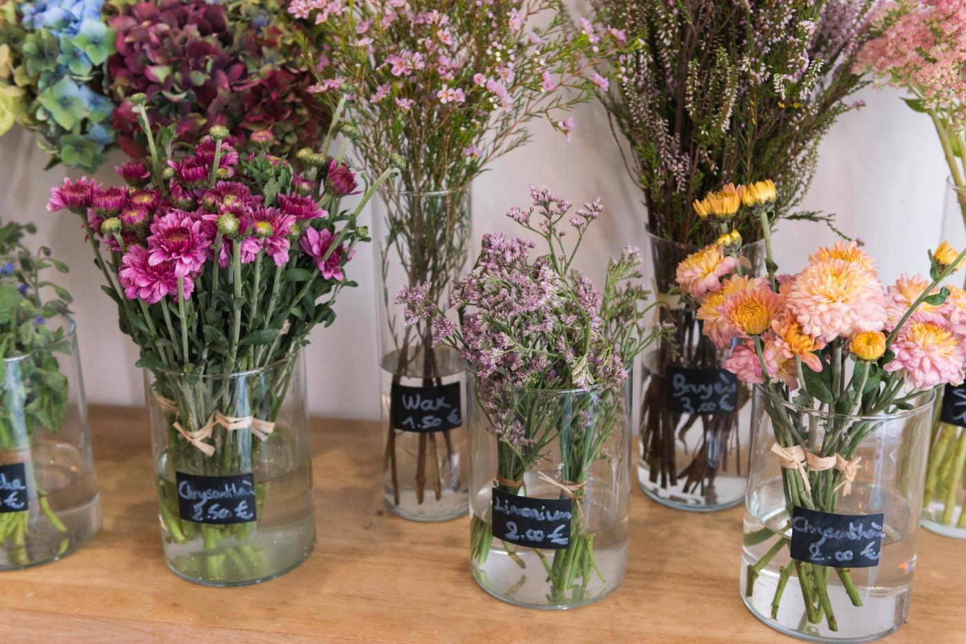 Composition florale chez PEONIES paris.
