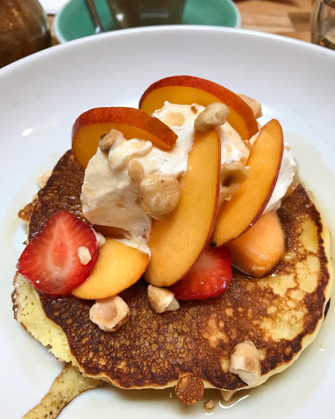 Pancakes, Hollybelly café.