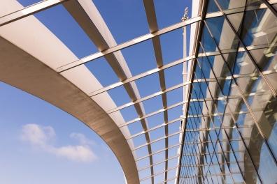 L'architecture du Sky Garden, un imposant building en forme de Talkie Walkie.