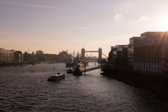 Tower Bridge au coucher du soleil