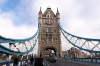 La tour du Tower Bridge de Londres.
