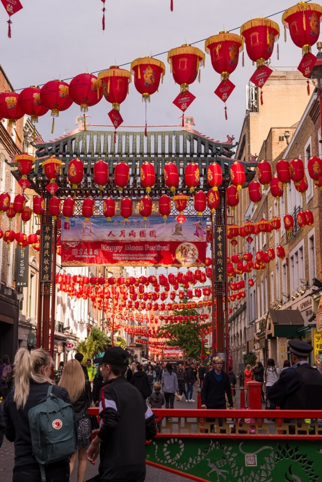 China Town et ses décorations flamboyantes.