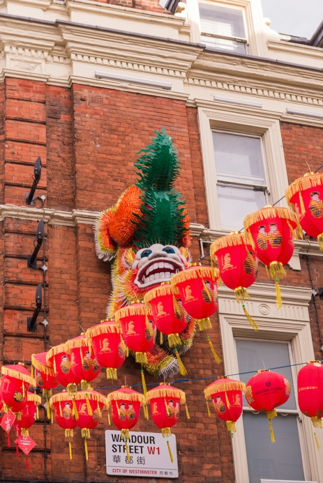 Dans le quartier de China Town à Londres.