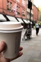 Un Café Latté ou un Cappuccino de chez Monmouth Coffee Company, un must try à Londres !