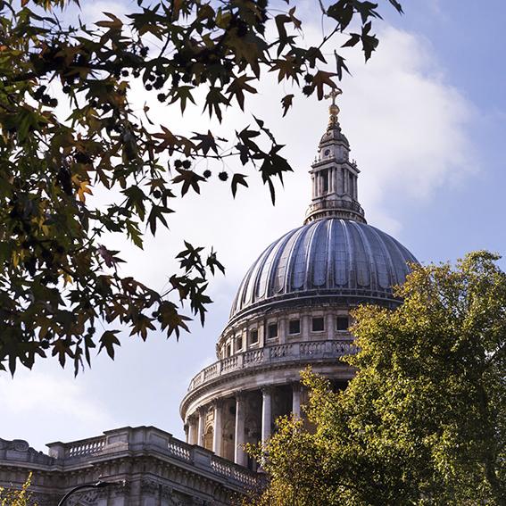 Dôme de la cathédrale St Paul.