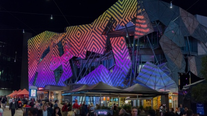 Fed Square habillé de lumière lors de la White Night.