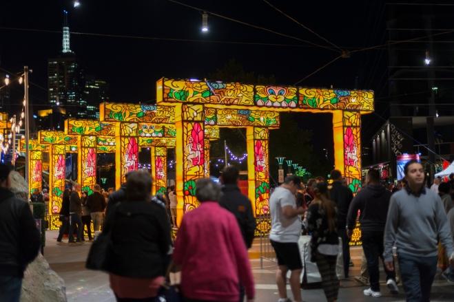 Des illuminations présentes partout dans la ville lors de la White Night.