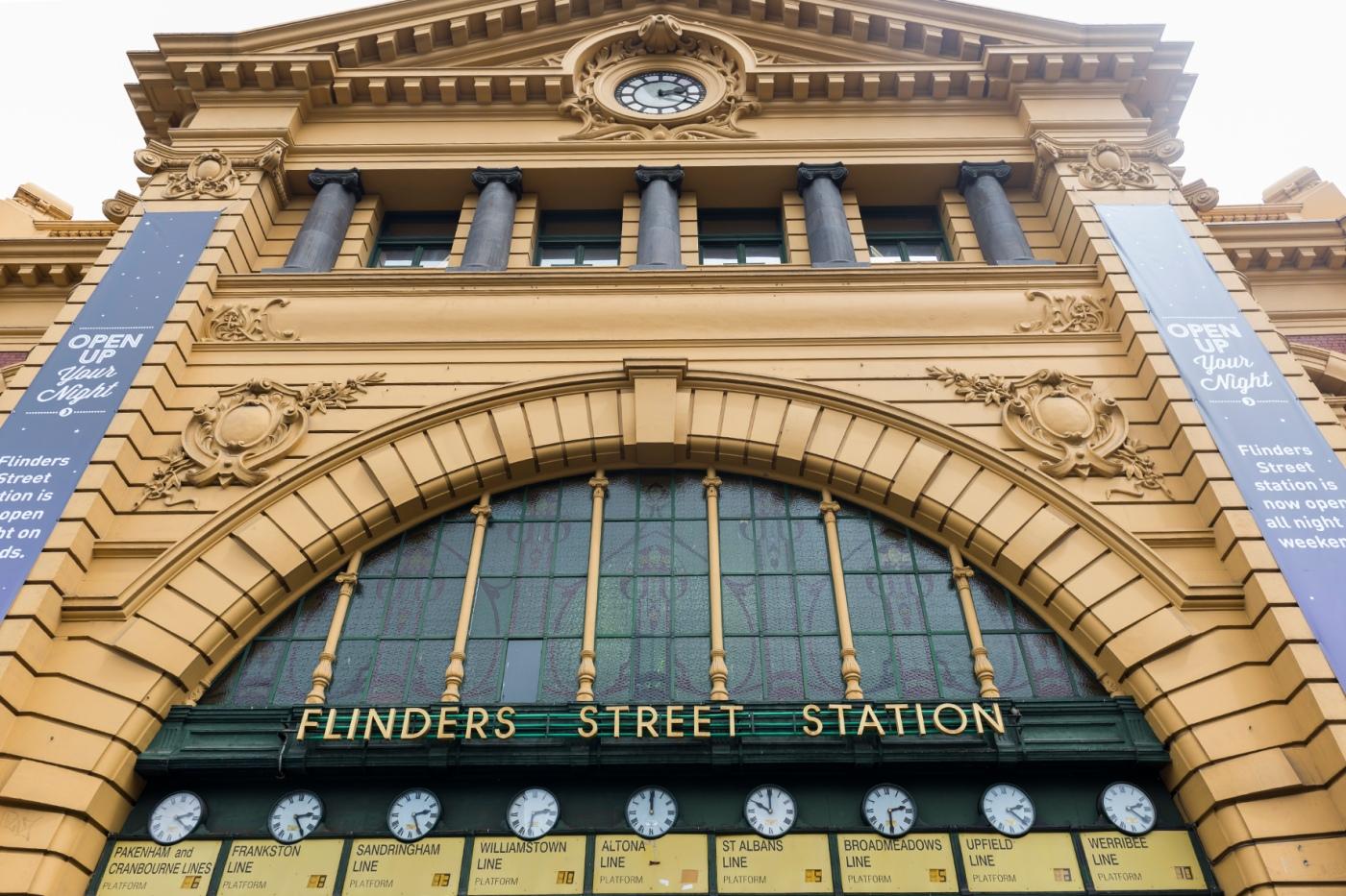 Gare de Flinders à Melbourne.