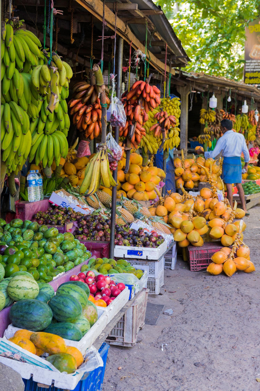 Photo d'un marché au Sri Lanka.